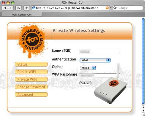 Fonera auf WPA2 umstellen