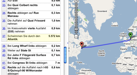 Screenshot aus Google-Maps.