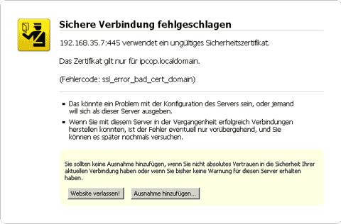 Firefox 3 und selbstsignierte SSL-Zertifikate › Thomas Falkner