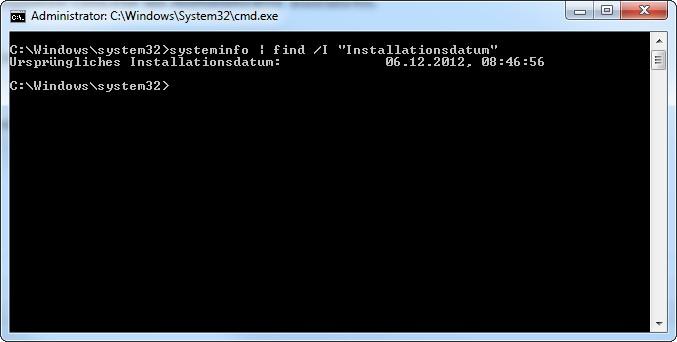 Windows Installationsdatum ermitteln